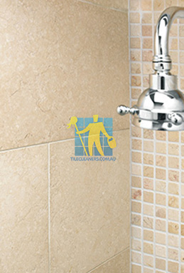 limestone tile shower thala cream Karrinyup cleaning
