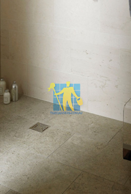 limestone tiles shower moleanos blue Karrinyup cleaning