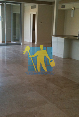 extra large porcelain floor tiles after cleaning empty room with kitchen Perth