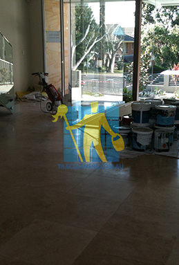 extra large porcelain floor tiles after cleaning empty room with polisher Perth