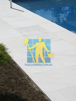 outdoor sandstone tile pool paving snow white Perth