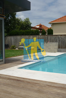outdoor sandstone tiles pool coping snow white Perth